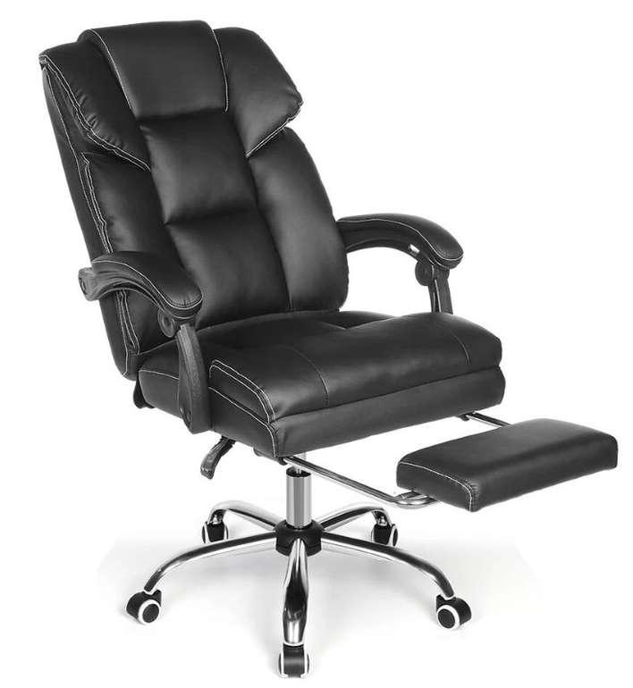 BlitzWolf BW-OC1 Bürostuhl Chefsessel mit verstellbarer Fußstütze (PU-Material) für 84,22€ (statt 141€)