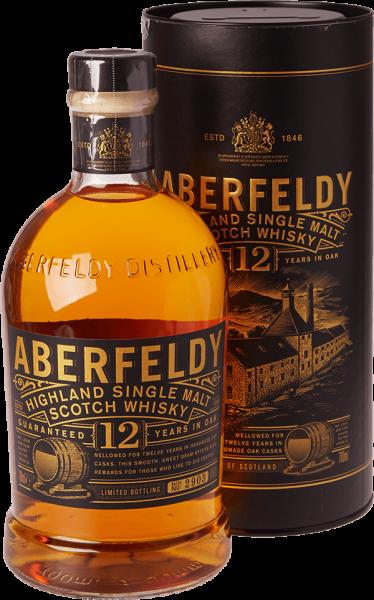 Aberfeldy Highland 12 Jahre Single Malt Whisky (0,7 l 40% Vol.) für 27,99€ inkl. Versand (statt 36€)
