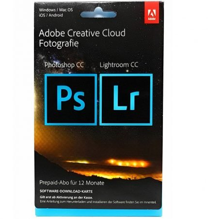 Adobe Creative Cloud Foto (Photoshop & Lightroom CC, 1 Jahr) für 99€