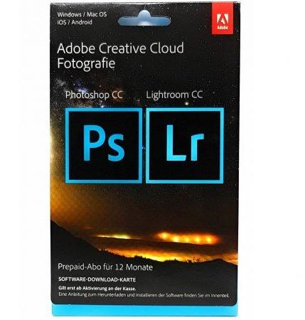 Adobe Creative Cloud Foto (Photoshop & Lightroom CC, 1 Jahr) für 98€