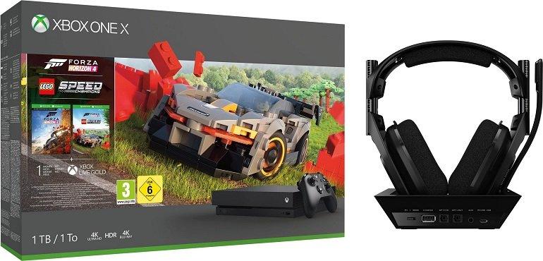 Microsoft Xbox One X 1TB + Forza Horizon 4 LEGO Speed Champions + Astro A50 Gen4 Headset für 444,95€