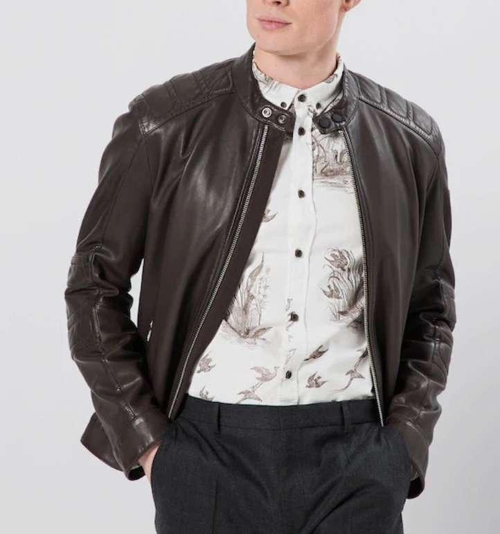 """Boss Herren Leder-Jacke """"Jagson5"""" für 239,20€ inkl. Versand (statt 375€)"""