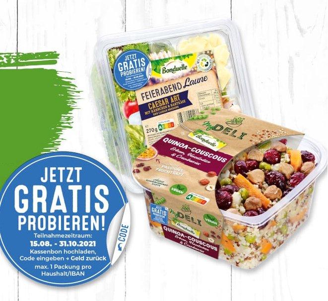 Bonduelle My Deli Salate & Salatschalen gratis testen dank Geld-zurück-Garantie (GzG)