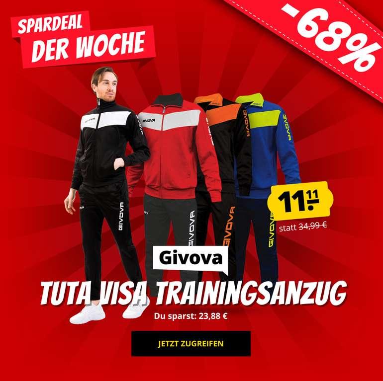 Givova Tuta Visa Trainingsanzug (vers. Farben) für 15,06€ inkl. Versand (statt 27€)