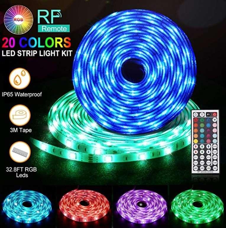 10m wasserdichte Daufri RGB SMD 5050 LED-Stripes + Fernbedienung & Netzteil für 19,71€