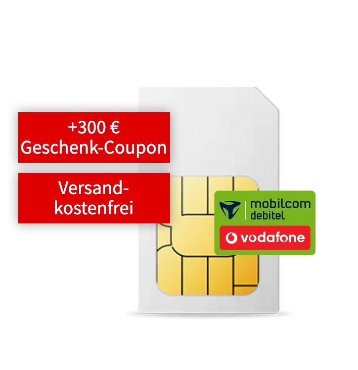 Vodafone green Allnet Flat mit 6GB LTE für 16,99€ mtl. + 300€ Media Markt Gustchein