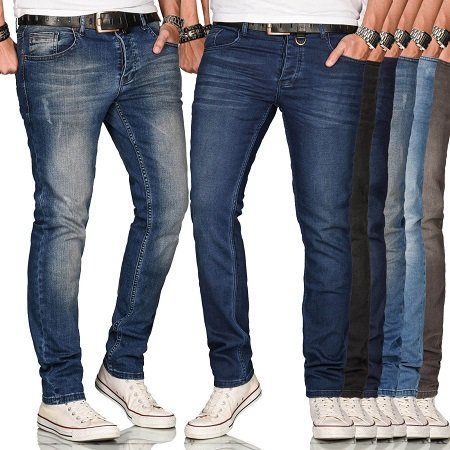 A. Salvarini Herren Basic Stretch Jeanshosen (Regular Slim) für je 27,90€