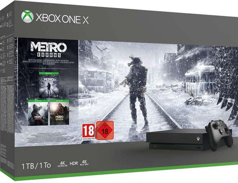 Microsoft Xbox One X 1TB Schwarz im Metro Exodus Bundle für 305€ inkl. Versand