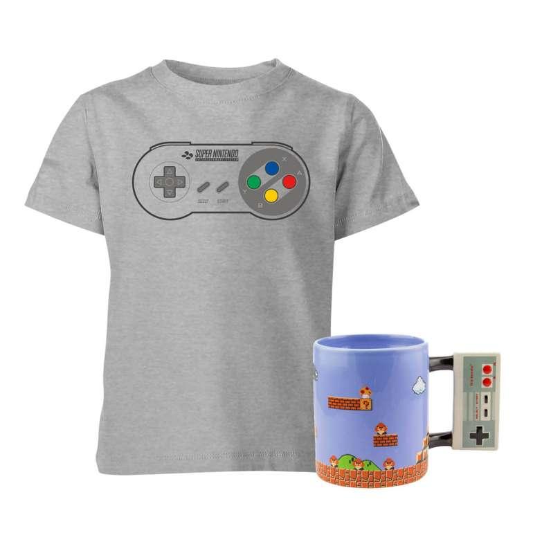 Kids Nintendo T-Shirt & Tasse für nur 16,48€ (statt 24€)