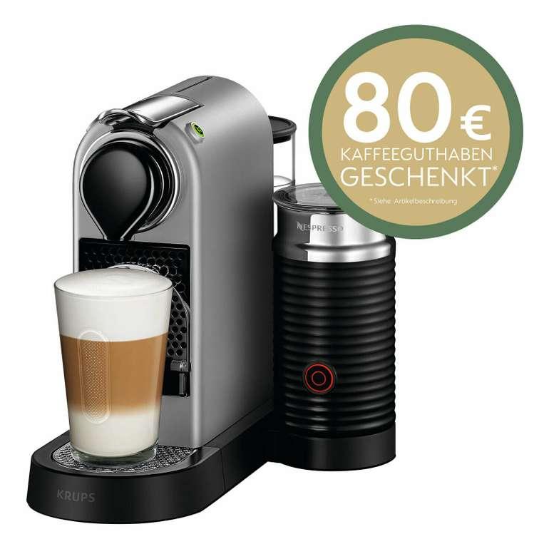 Krups XN 760B Nespresso New CitiZ&milk Kapselmaschine für 119,90€ + 80€ Gutschein!
