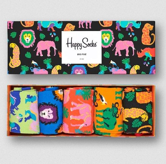 Happy Socks: 20% Rabatt auf nicht reduzierte Artikel + VSKfrei, z.B. The Big Five Gift Box für 31,96€