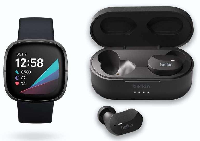 Fitbit Sense + Belkin Soundform True Wireless Earbuds für 309,95€ (statt 349€)