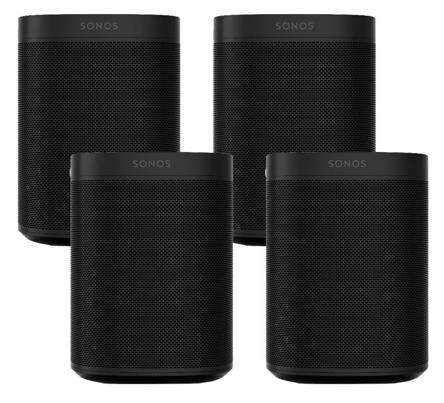 4er Set Sonos One Lautsprecher mit Sprachsteuerung für 726,84€ (statt 820€)