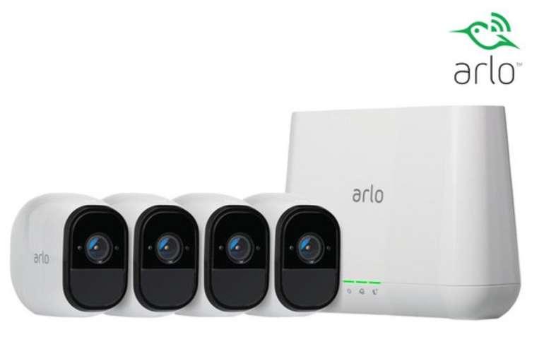 Arlo Pro Sicherheitssystem mit 4 Kameras und 2-Wege-Audio-System für 475,90€ (statt 530€)
