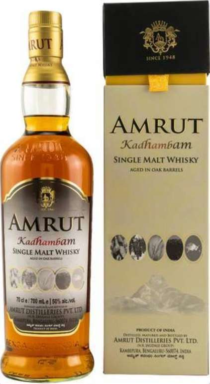 DrankDozijn: Whisky Deals + VSKfrei ab 40€ Warenwert - z.B. Amrut Kadhambam Indian Single Malt (0.7 l) für 62,50€