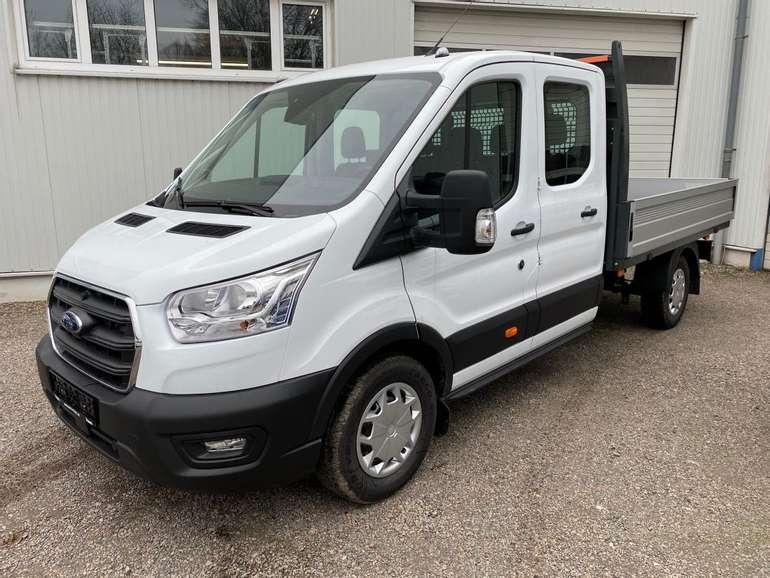 Privat + Gewerbe: Ford Transit TREND 350 L3 Doppelkabine Pritsche mit 130PS für 139€ brutto mtl. - LF: 0,29!