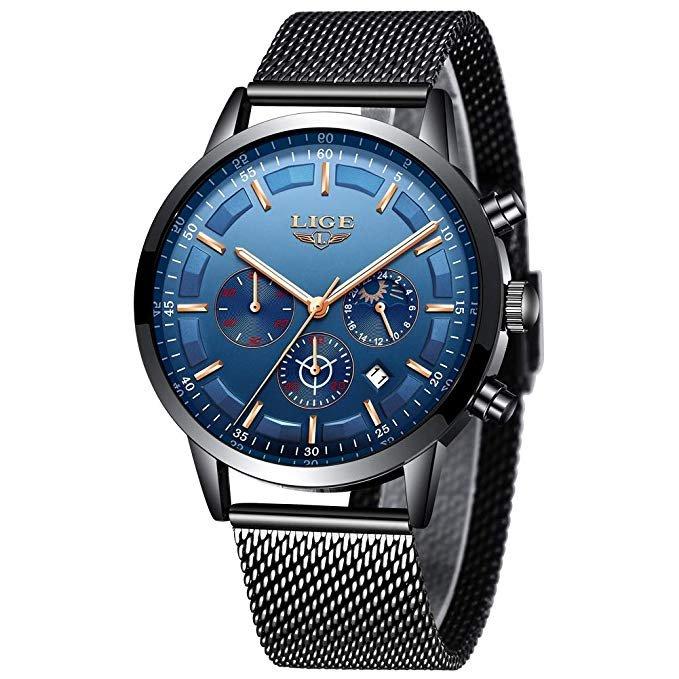 Lige Herren Edelstahl Uhr LG9877 für 17,39€ inkl. Prime Versand (statt 25€)