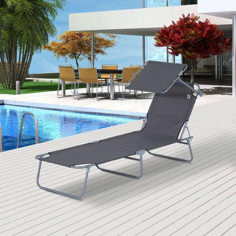 Outsunny Sonnenliege mit Sonnenschutz für 34,99€ inkl. Versand (statt 40€)