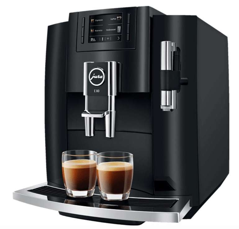 Saturn: 3fach Vorteil auf ausgewählte Haushaltsgeräte - z.B. Jura E80 Kaffeevollautomat für 795,83€
