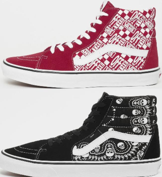 Vans SK8-Hi Sneaker in 2 vers. Farben zu je 45,99€inkl. Versand (statt 52€)