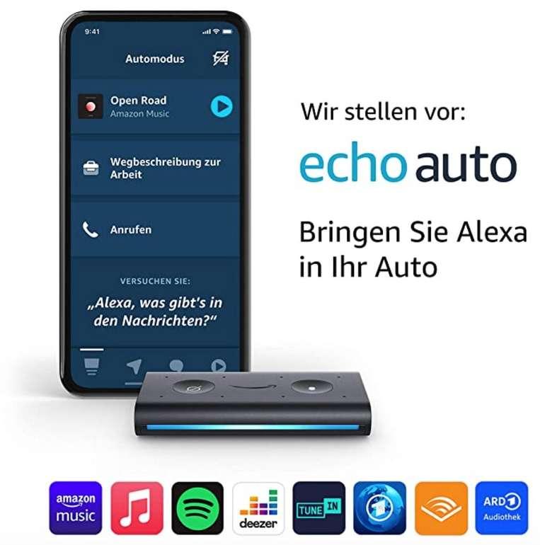 Amazon Echo Auto (Alexa im Auto benutzen) für 34,11€ inkl. Prime Versand (statt 51€)