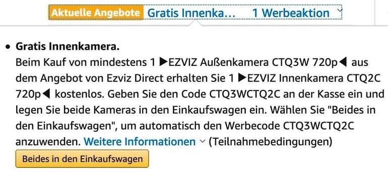 Deal Screenshot Warenkorb