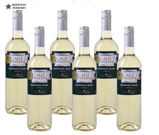 6x Calle Principal - Sauvignon Blanc - Vino de la Tierra Castilla für 23,97€ inkl. VSK
