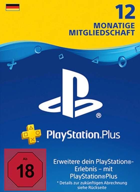 PlayStation Plus Card für 365 Tage bzw. 12 Monate nur 44,99€ (statt 59€)