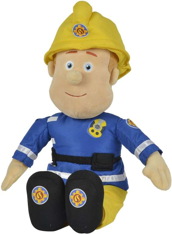 Simba 52112 Feuerwehrmann Sam Plüschfigur (45cm) mit Helm für 14,99€ inkl. VSK - Prime!