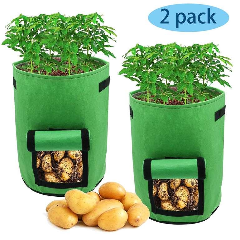 Hengda - verschiedene Pflanzentaschen reduziert, z.B. 2er Pack mit 15 Litern für 8,39€