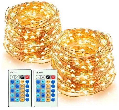 TaoTronics – 2 x 20m Lichterketten mit 200 warmweißen LED`s für 26,99€ mit Prime