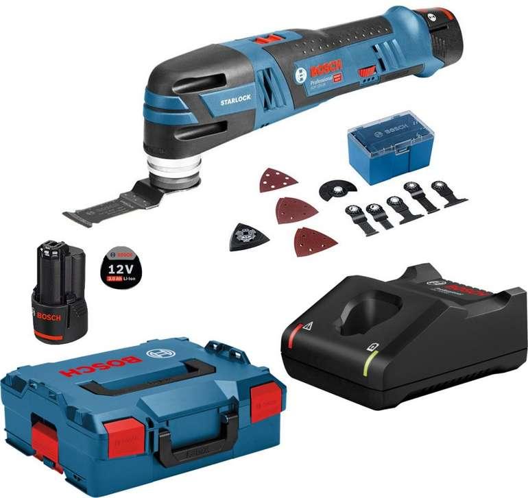 Bosch GOP 12V-28 Professional - Akku-Multifunktionswerkzeug mit 2x 3,0Ah Akku + L-Boxx für 181,80€ inkl. Versand (statt 222€)