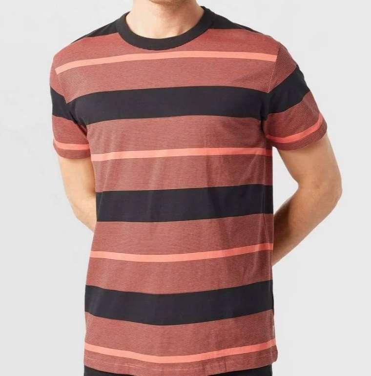 """Espirt Herren T-Shirt """"Striped"""" in Coral Red für 7,45€ inkl. Versand (statt 18€)"""