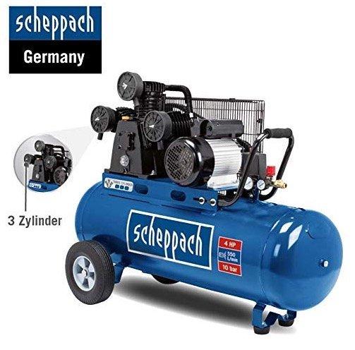 Scheppach Kompressor HC550TC, 3-Zylinder Riemenantrieb für 349,25€ (statt 444€)
