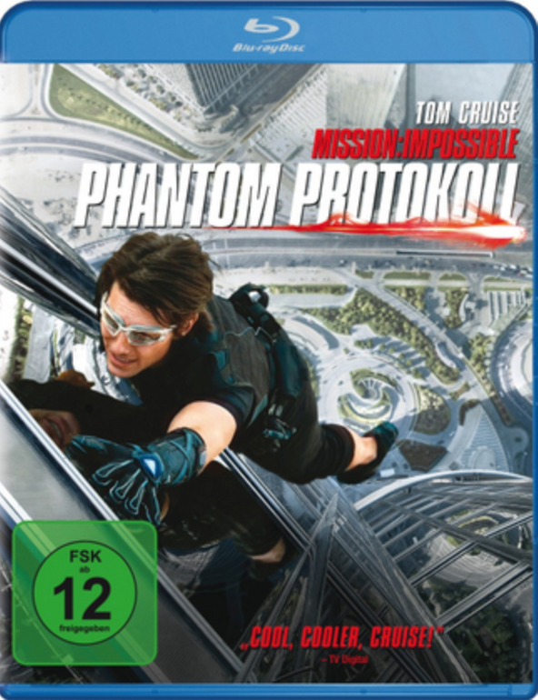 Mission: Impossible 4 Phantom Protokoll (Blu-ray) für 4,08€ inkl. VSK (statt 8€)