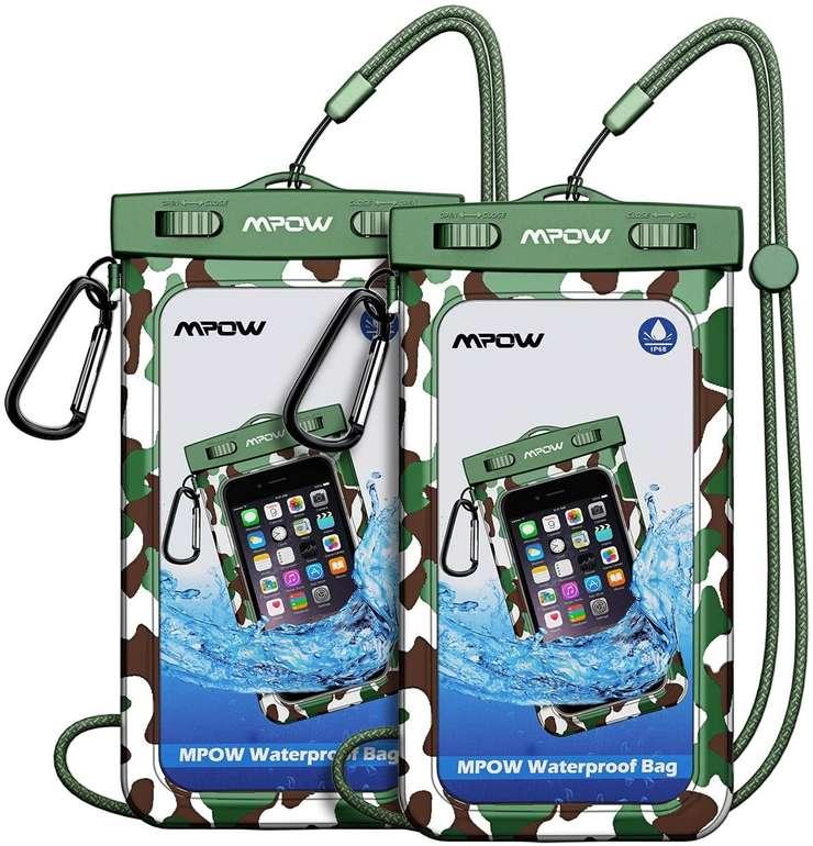 """Mpow wasserdichte Handyhüllen im Doppelpack (bis 6,5"""") für 4,99€ inkl. Prime Versand"""