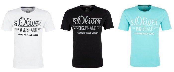 s. Oliver Herren T-Shirt in vielen verschiedenen Designs für je nur 4,99€