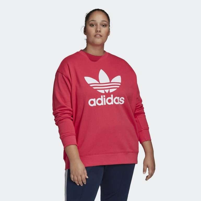 Adidas Trefoil Damen Sweatshirt (große Größen) für 25€ inkl. Versand (statt 50€)