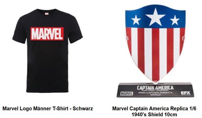 Marvel Varsity College Jacke + T-Shirt + Captain America Replica Schild 2