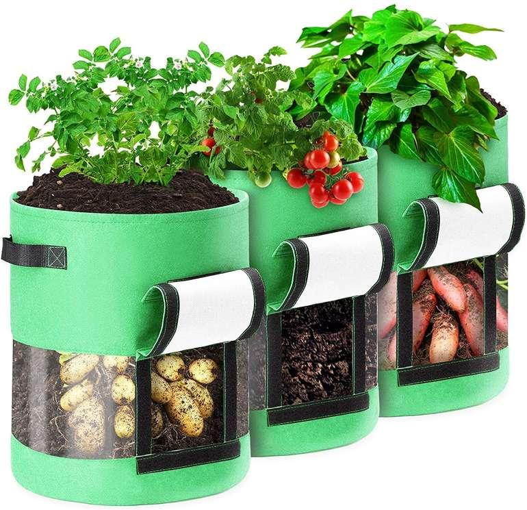 Caveen 3er Pack Pflanzentaschen mit Sichtfenster für 13,79€ inkl. Prime Versand (statt 20€)