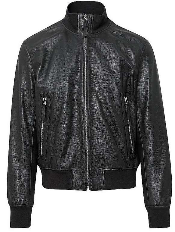 Hugo Boss Neovel Relaxed-Fit Jacke aus genarbtem Leder für 249,99€ inkl. Versand (statt 350€)