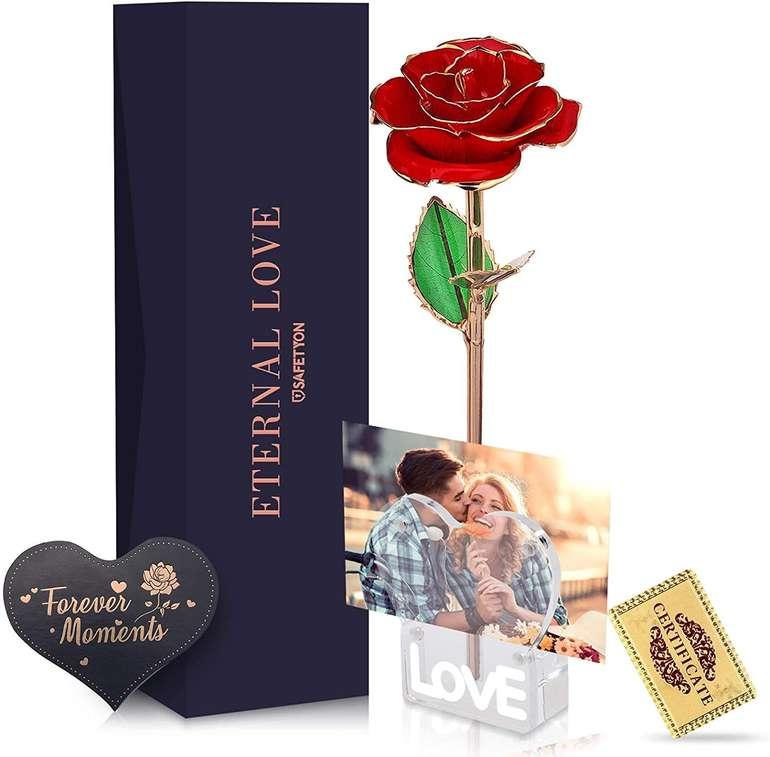 Safetyon vergoldete Rose mit Ständer für 17,99€ inkl. Versand (statt 29€)