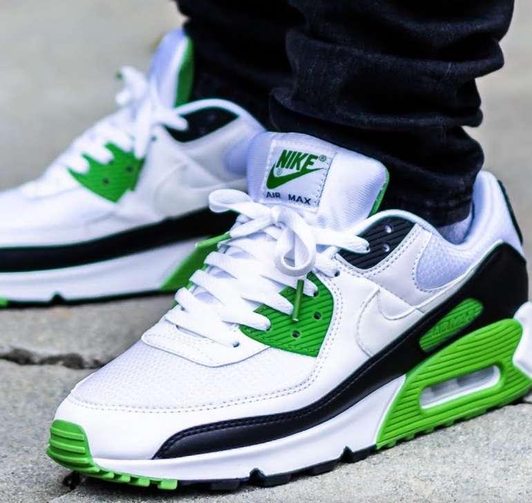 """Nike Air Max 90 Herren Sneaker im """"White/Chlorophyll""""-Colourway für 83,90€ inkl. Versand (statt 99€)"""