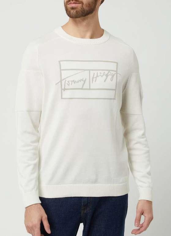 Tommy Hilfiger Pullover aus Baumwolle in Weiß für 39,99€inkl. Versand (statt 50€)