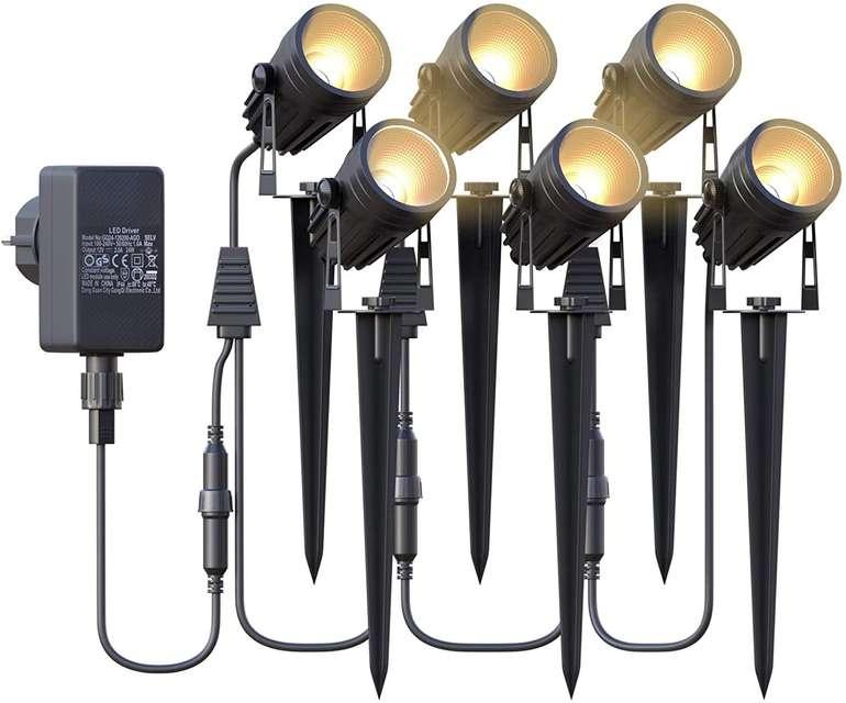 Azhien LED Gartenbeleuchtung 6er Set (3W, 17.5 Meter) für 48,99€ inkl. Prime Versand (statt 70€)