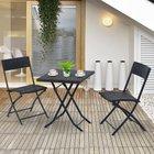 Outsunny -  3-tlg. Polyrattan Balkonmöbel Set mit Tisch für 55,71€ inkl. VSK