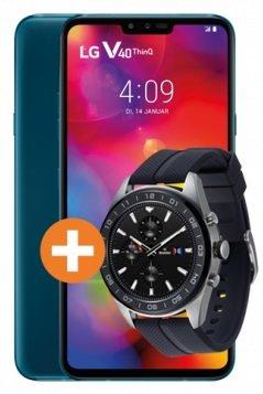 LG V40 ThinQ + LG W7 Watch (39,95€) inkl. Congstar Allnet-Flat mit 10GB LTE (50 Mbit/s) für 25€ mtl.
