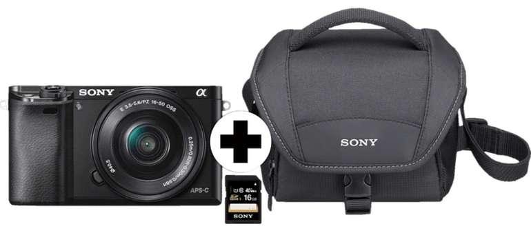 Media Markt Oster-Sparnickel Angebote, z.B. Sony Alpha 6000 + Objektiv 16-50mm + Tasche + SD-Karte für 399€