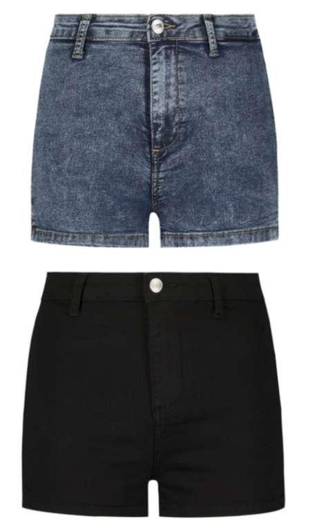 Tally Weijl Skinny High Waist Denim Shorts in schwarz oder blau für 10,99€inkl. Versand (statt 20€)