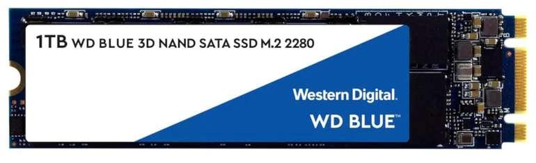 WD Blue 3D NAND SATA M.2 1TB SSD (1GB DRAM + SLC Cache, 3D TLC, 5 Jahre Garantie) für 85,99€ (statt 98€)
